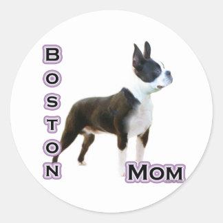 Mamá 4 de Boston Terrier - pegatina
