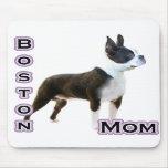 Mamá 4 de Boston Terrier Tapetes De Raton