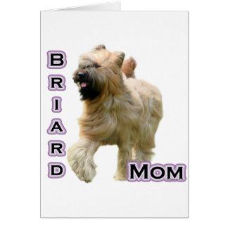Mamá 4 de Briard Tarjeta De Felicitación
