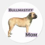 Mamá 4 de Bullmastiff - pegatina