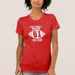 Mamá 61 del fútbol camiseta