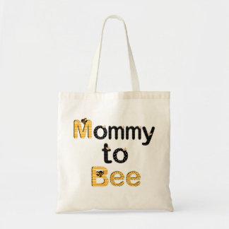 Mamá a la abeja bolsa tela barata