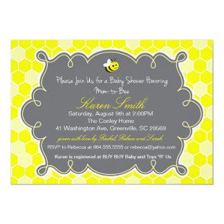 Mamá a la abeja, invitación de la fiesta de