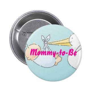 Mamá-a-Sea Pin Redondo De 2 Pulgadas