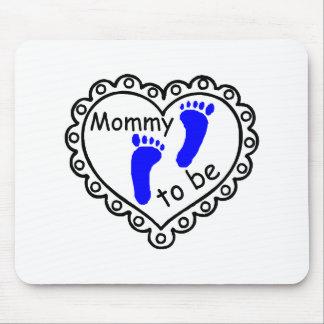 Mamá a ser corazón azul de las huellas del muchach tapetes de ratones