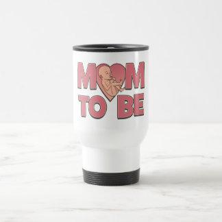 Mamá a ser de maternidad taza de viaje
