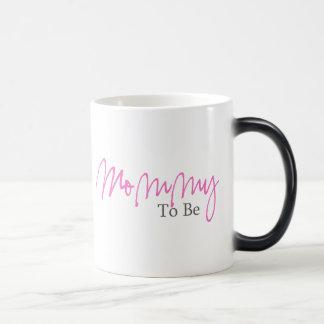 Mamá a ser (escritura rosada) tazas de café