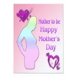 Mamá a ser invitación del día de madre invitación 12,7 x 17,8 cm