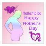 Mamá a ser invitación del día de madre invitación 13,3 cm x 13,3cm