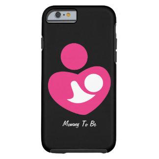 Mamá a ser (personalizable) funda resistente iPhone 6