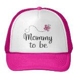 Mamá a ser regalo rosado de la mariposa gorros bordados