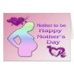 Mamá a ser tarjeta del día de madre