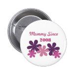 Mamá adaptable de la flor desde el botón, púrpura pins