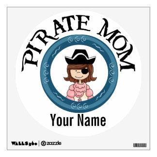 Mamá adaptable del pirata vinilo adhesivo