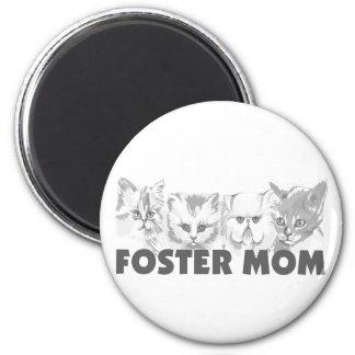 Mamá adoptiva (gatos) imán redondo 5 cm