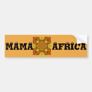 Mama Africa Bumper Sticker Template