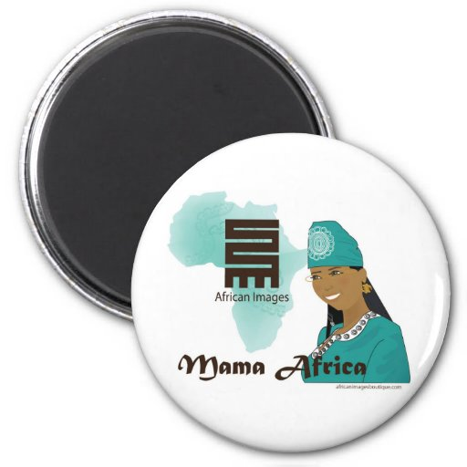 Mama Africa turquoise 2 Inch Round Magnet