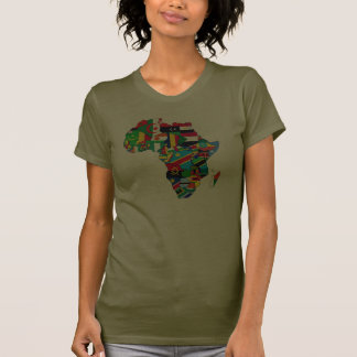 Mama Africa womens flag map of Africa African gift T Shirts