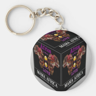 Mama African ethnic tribal pattern Keychain