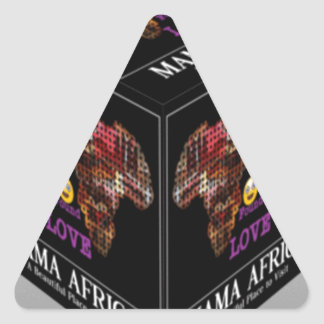 Mama African ethnic tribal pattern Triangle Sticker