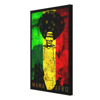 Mama Afro African Roots Reggae Music Africa Map Canvas Print