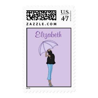 Mamá afroamericana a ser sello postal
