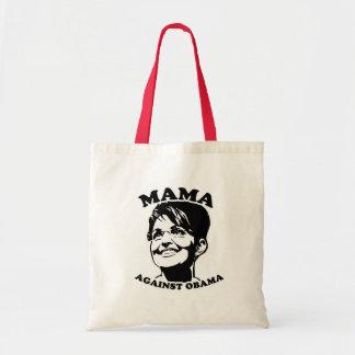 Mama against Obama Canvas Bags
