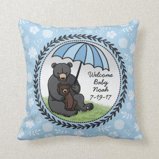 Mamá agradable Bear y Cub del bebé personalizados Cojín
