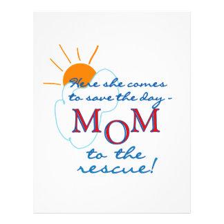 Mamá al rescate tarjeta publicitaria