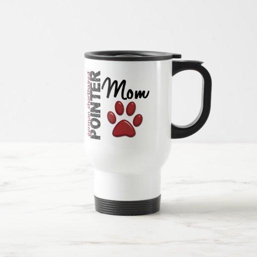 Mamá alemana 2 del indicador de pelo corto taza de café