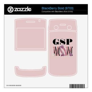 MAMÁ alemana del indicador de pelo corto Calcomanía Para BlackBerry