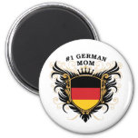 Mamá alemana del número uno iman de frigorífico