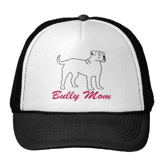 Mamá americana del matón del dogo gorras