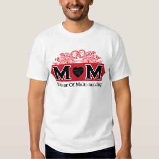 MAMÁ - amo de los trabajos múltiple (con el parte Poleras
