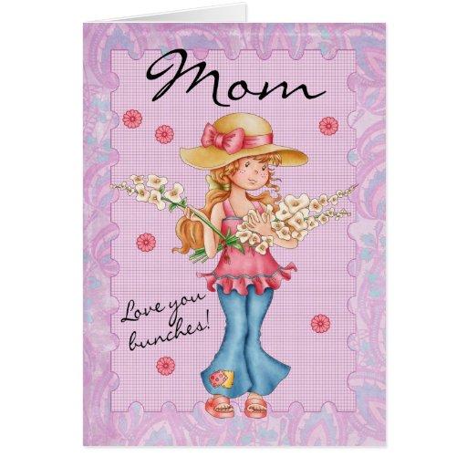 ¡Mamá, amor de la tarjeta del día de madre usted m