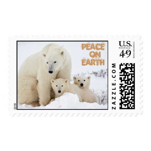 Mama & babies, Peace  onEarth Postage Stamps
