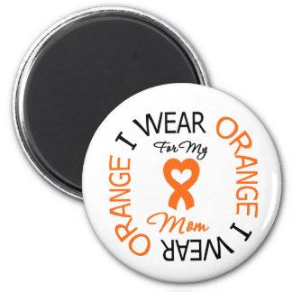 Mamá anaranjada de la cinta de la esclerosis múlti imán redondo 5 cm