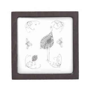 Mama and baby bird jewelry box