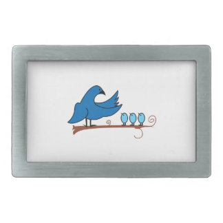 MAMA AND BABY BIRDS BELT BUCKLES