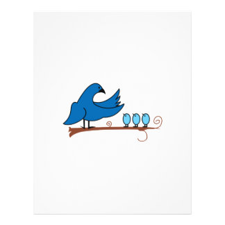 MAMA AND BABY BIRDS LETTERHEAD TEMPLATE