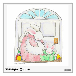 Mama and Baby Bunny wall decal