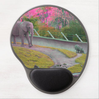 Mama and Baby Elephant Gel Mouse Pad