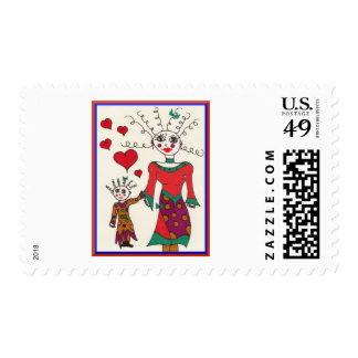 Mama and Baby Elf Love Stamp