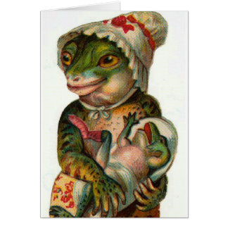 Mama and Baby Frog Card
