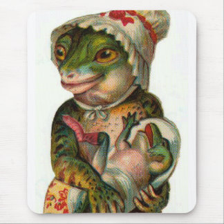 Mama and Baby Frog Mouse Pad