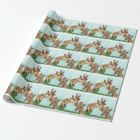 Mama and Baby Giraffe Wrapping Paper