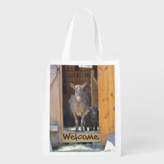 Mama and Baby Goat Market Bag
