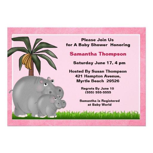 baby hippo baby shower invitations 5 x 7 invitation card za