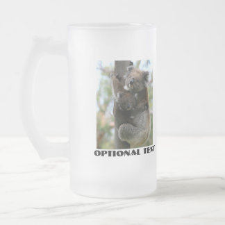 Mama and Baby Koala 16 Oz Frosted Glass Beer Mug