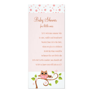 Mama and Baby Owl 4x9.25 Paper Invitation Card
